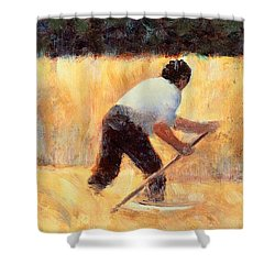 The Reaper Shower Curtain by Georges Seurat