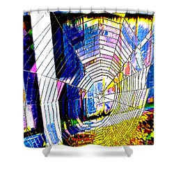 The Refracted Cobweb Shower Curtain by Steve Taylor
