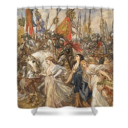 The Return Of The Victors Shower Curtain by Sir John Gilbert