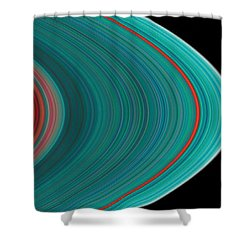 The Rings Of Saturn Shower Curtain by Anonymous