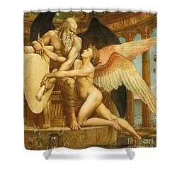 The Roll Of Fate Shower Curtain by Walter Crane