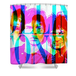 The Rolling Stones Shower Curtain by Elizabeth McTaggart
