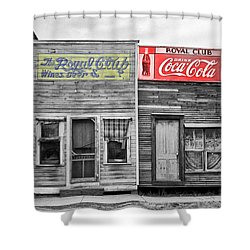 The Royal Club Shower Curtain by Russell Lee