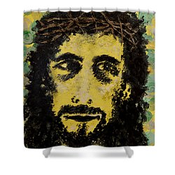 The Savior Shower Curtain by Alys Caviness-Gober