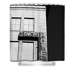 The Savoy Hotel Shower Curtain by Karol Livote