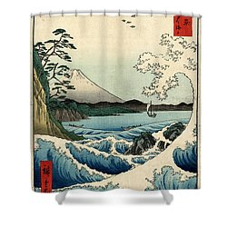 The Sea At Satta In Suruga Province Shower Curtain by Georgia Fowler
