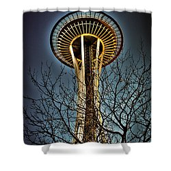 The Seattle Space Needle Iv Shower Curtain by David Patterson