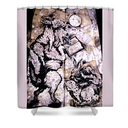 The Seduction Shower Curtain by Sol Robbins