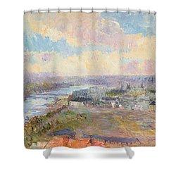 The Seine At Rouen Shower Curtain by Albert Charles Lebourg