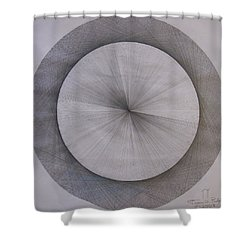 The Shape Of Pi Shower Curtain by Jason Padgett