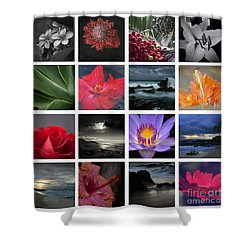 The Silence Of Time Shower Curtain by Sharon Mau