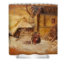 The Singers Shower Curtain by Sorin Apostolescu
