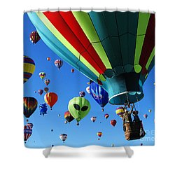 The Sky Is Full Shower Curtain by Vivian Christopher