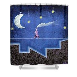 The Sleepwalker I Shower Curtain by Graciela Bello