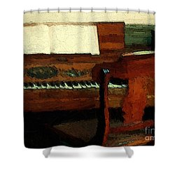 The Square Piano Shower Curtain by RC DeWinter