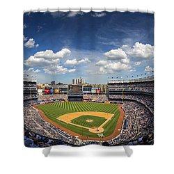 The Stadium Shower Curtain by Rick Berk