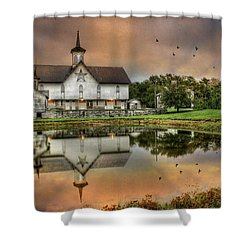 The Star Barn Shower Curtain by Lori Deiter