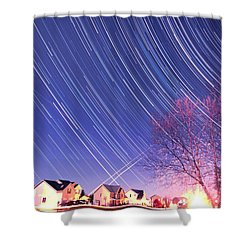 The Star Trails Shower Curtain by Paul Ge
