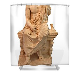 The Statue Of The Unidentified Philosopher Shower Curtain by Tracey Harrington-Simpson