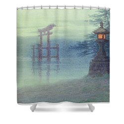 The Stone Lantern Cira 1880 Shower Curtain by Aged Pixel