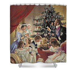 The Story Of The Christmas Tree Shower Curtain by C L Doughty