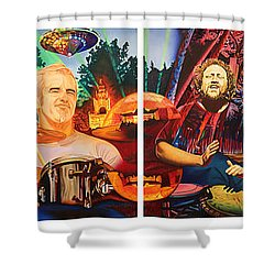 The String Cheese Incident At Horning's Hideout Shower Curtain by Joshua Morton