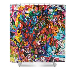 The Subject In Entirety 1 Shower Curtain by David Baruch Wolk