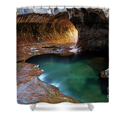 The Subway Sacred Light Shower Curtain by Bob Christopher