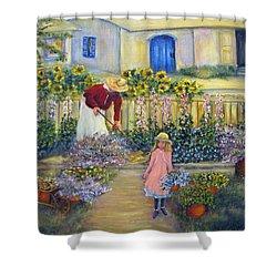 The Summer Garden Shower Curtain by Loretta Luglio
