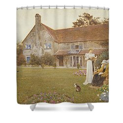 The Sundial Shower Curtain by Thomas James Lloyd