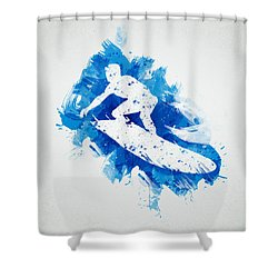 The Surfer Shower Curtain by Aged Pixel