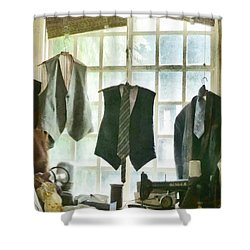 The Tailor Shop Shower Curtain by Steve Taylor