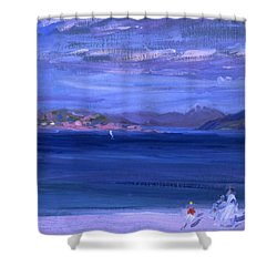 The Tale Of Mull From Iona Shower Curtain by Francis Campbell Boileau Cadell