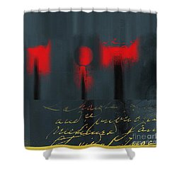 The Three Trees - J22206237a Shower Curtain by Variance Collections