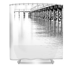 The Tide Shower Curtain by Karol Livote