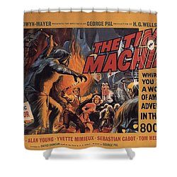 The Time Machine  Shower Curtain by Movie Poster Prints
