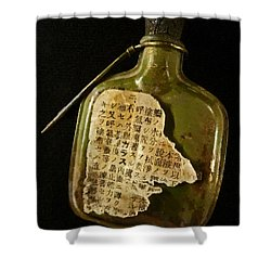 The Torn Message Shower Curtain by Steve Taylor