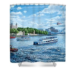 The Tower Of London Shower Curtain by Steve Crisp
