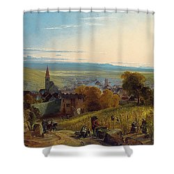 The Travellers Shower Curtain by Christian Ernst Bernhard Morgenstern