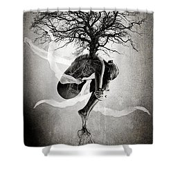 The Tree Of Life Shower Curtain by Erik Brede