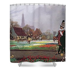 The Tulip Folly Shower Curtain by Jean Leon Gerome