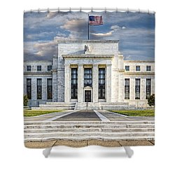The Us Federal Reserve Board Building Shower Curtain by Susan Candelario