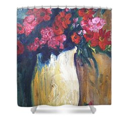 The Vase Shower Curtain by Sherry Harradence