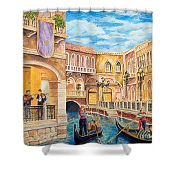 The Venetian Canal  Shower Curtain by Vicki  Housel