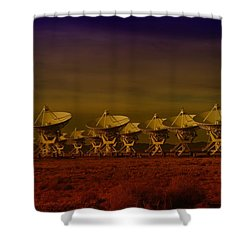 The Very Large Array In New Mexico Shower Curtain by Jeff Swan