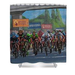 The Vuelta Shower Curtain by Paul Meijering