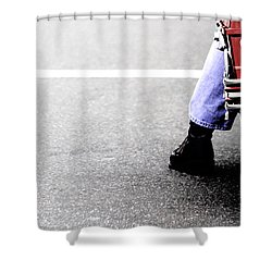 The Wait  Shower Curtain by Karol Livote