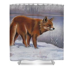 The Waiting Game Shower Curtain by Cynthia House