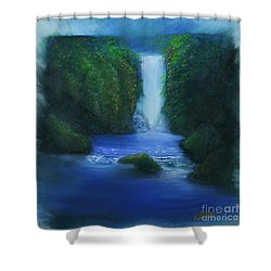 The Waterfall Shower Curtain by David Kacey