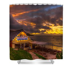 The Waterfront Shower Curtain by English Landscapes
